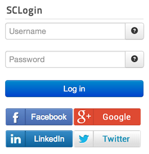 SCLogin: Vertical Layout with Bottom Orientation (default)