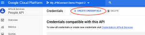 Google Application - Create Credentials