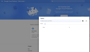 Google - Create New Project