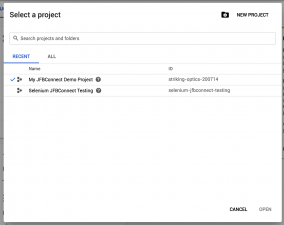 Google Application - Create Project