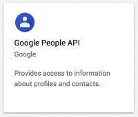 Google People API