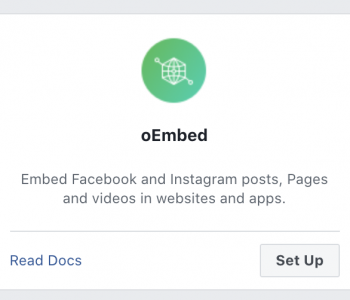 Instagram - oEmbed Product