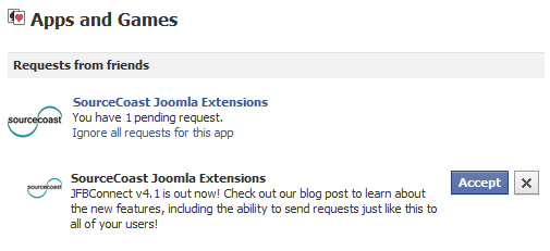 App Request for Joomla