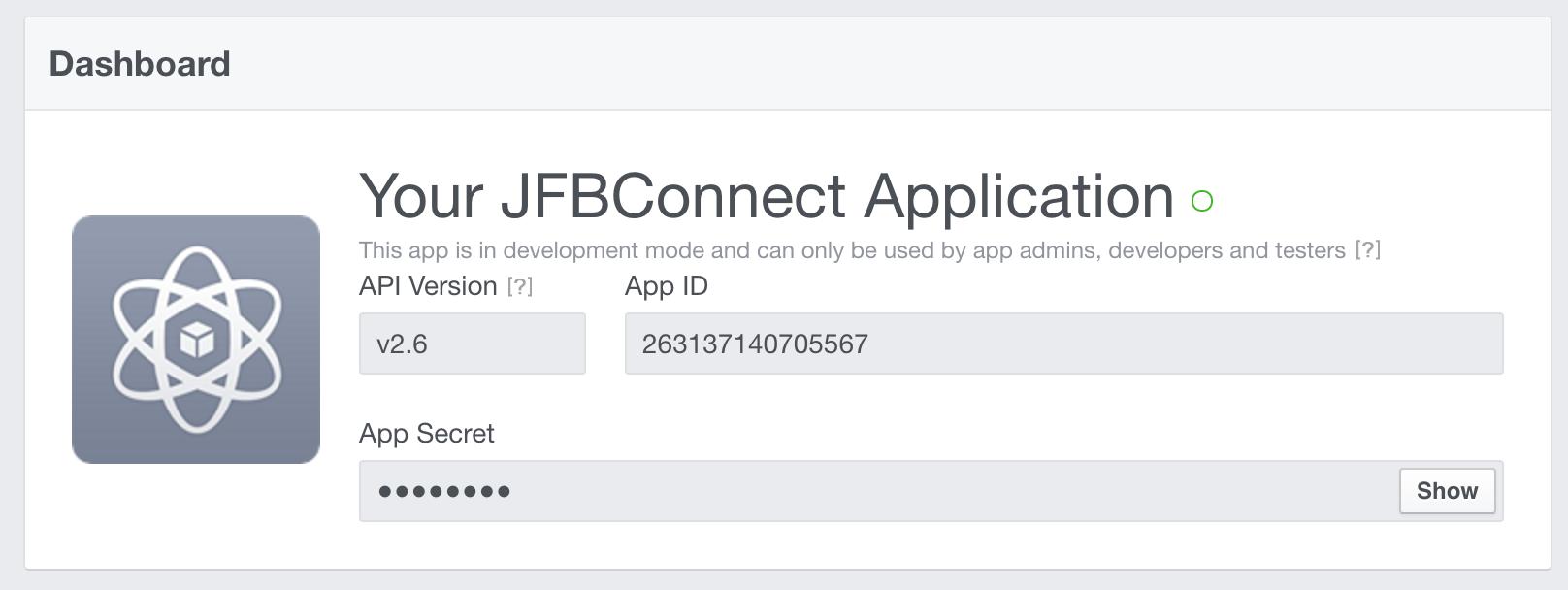 Facebook application secret