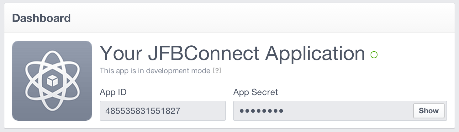 Facebook Application ID and Secret Key