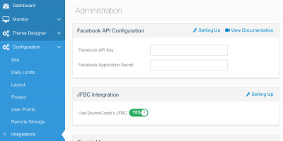 JomSocial / JFBConnect Integration Settings