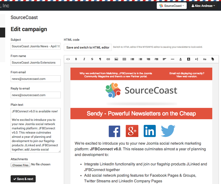 Sendy: Powerful, cheap newsletters for Joomla - Blog   SourceCoast